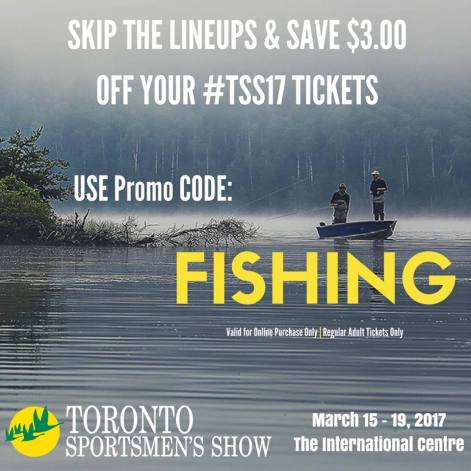 Coupon, Toronto Sportsmen's Show, Admission, Fishing