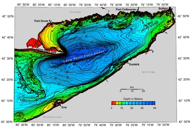 NOAA Bathymetry, Eastern Basin of Lake Erie